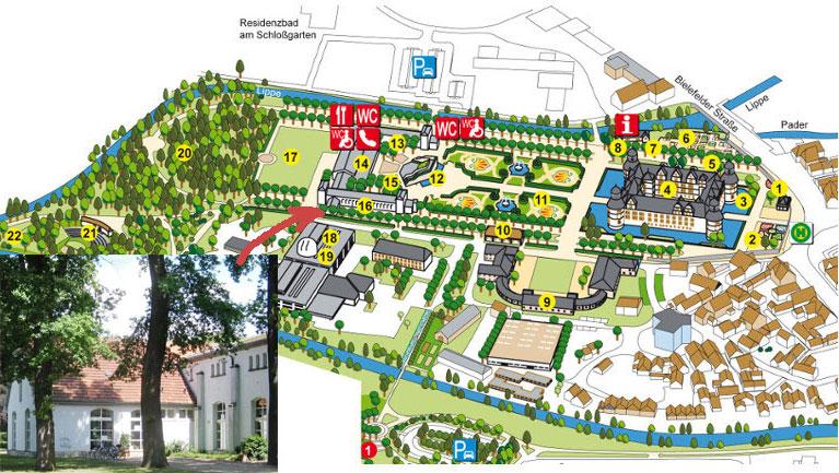 Geländeplan des Schlossparks der SCHLOSSPARK UND LIPPESEE GESELLSCHAFT MBH