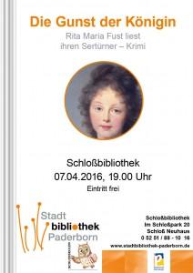 Plakat - Die Gunst der Königin - Rita Maria Fust